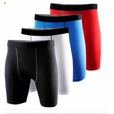 Mens Compression Base Layer Thermal Under Skin Shorts Sports Tight Gym Pants