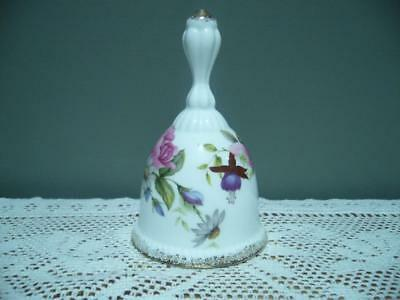 Webb Collectable Floral Bell - Bone China - Derby Posies Style -  Vintage - Vgc