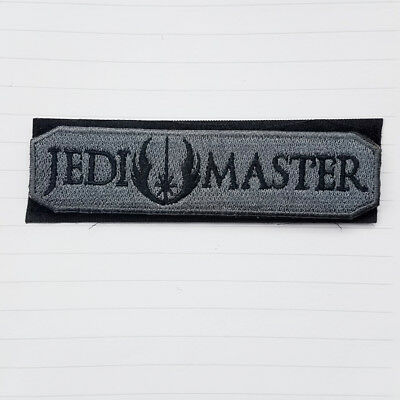 STAR WARS JEDI MASTER Patch Embroidered Tactical Morale Hook Swat Badge BS2 BS2