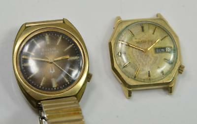 Lot of (2) Vintage BULOVA ACCUTRON Mens Watches 2180 & 2182, One Running