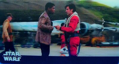 Star Wars, The Force Awakens, Topps 2017 Widevision 3D, Card # 34, Fast Friends