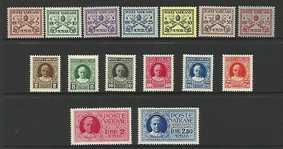 1929 Vatican City Scott #1-13, E1-E2 - MLH cond.