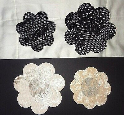 USA~1,3,5 Pair (Black or Beige~Small or Large) Nipple Cover Pasties Lace Flowers