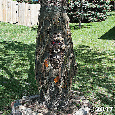 HAUNTED TREE GHOST CREEPER LED RED GLOW EYES Prop Halloween NEW 40""