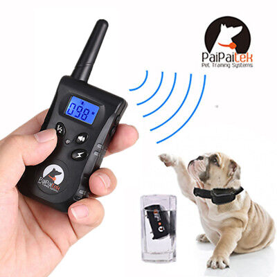 HOT 500M Waterproof Rechargeable LCD Electric Remote Dog Training Shock Collar