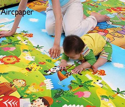 Thickness Baby Crawling Mat Forest Pattern Toddler Indoor Activity Pad/Game Mat