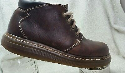 Dr. Martens Unisex Brown Leather Boots/Shoe Oxford Men Size 5. Made in England
