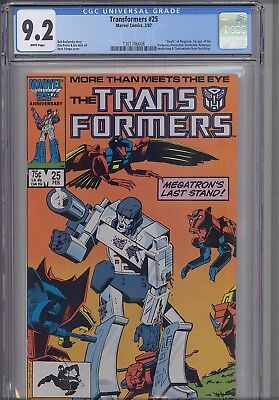 Transformers #25 CGC 9.2 1987 Marvel Comic: with NEW Frame