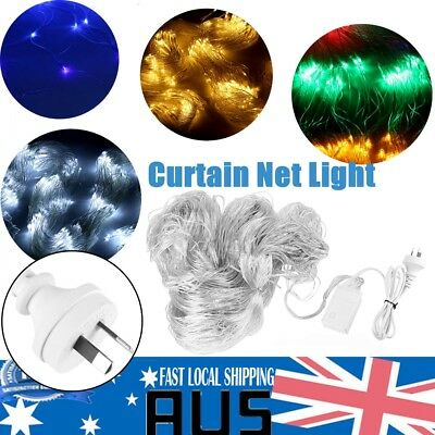 880 LED Fairy Net Light Mesh Curtain Wedding Xmas Party Decoration 4x6m