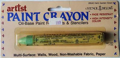 Vintage Artist Oil Base Paint Stencil Crayon #26540 Herb Garden Green Unopened