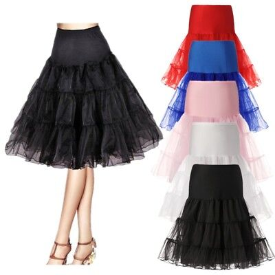 "US Vintage 26"" Retro Underskirt 50s Swing Fancy Tutu Skirt Rockabilly Petticoat"