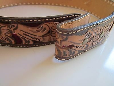 Motleys Hand Crafted Leather Belt 70-75 Cms No Buckle