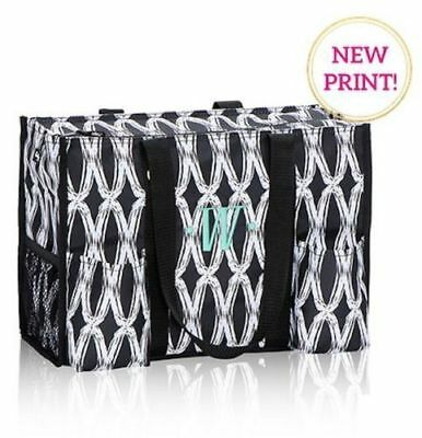 BN Thirty One Zip top Organizing utility Tote bag in Black links 31 gift new