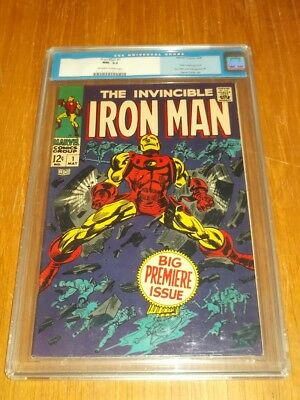 Iron Man #1 Cgc 9.2 Off White To White Pages May 1968 (Sa)