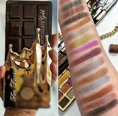 Christmas Edition Chocolate Gold Eye Shadow Powder Palette 16 Shades Makeup New