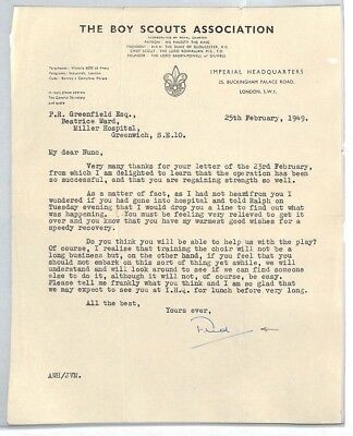 BS206 1949 GB The Boy Scouts Association London Letter PTS