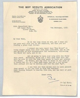 BS207 1955 GB The Boy Scouts Association London Letter PTS