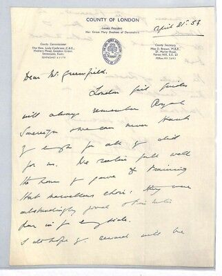 BS211 1953 GB Girls Guides Association London Letter PTS
