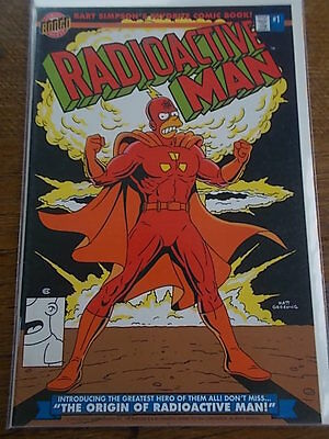 FIRST ISSUE BONGO Group Comics BART SIMPSON RADIOACTIVE MAN #1 COMIC No 1
