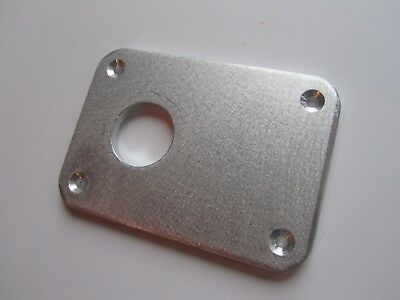 Tonearm spacer plate 25mm hole alloy 6mm thick app.10 x 7 cms fits Rega + others