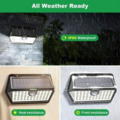 Waterproof Mpow 63 LED Bright Motion Sensor Solar Lights Outdoor Security Lamps