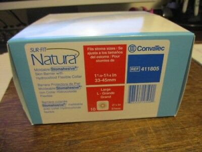 Convatec 411805 Sur-Fit Natura Skin Barrier New Box Of 10