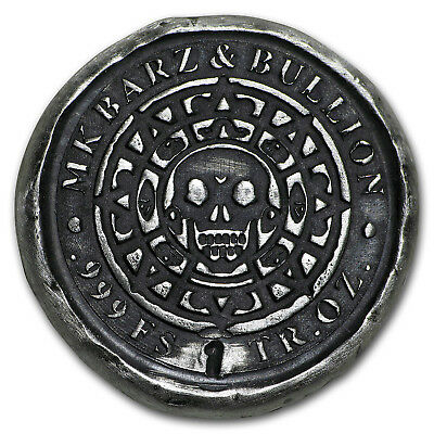 1 oz Hand-Poured Silver Round - Pirates Doubloon - SKU#156455