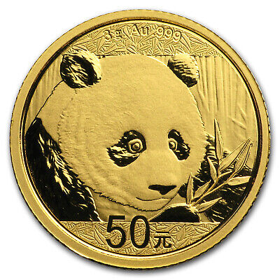 2018 China 3 gram Gold Panda BU (Sealed) - SKU#152623