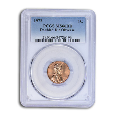 1972 Lincoln Cent Double Die Obverse MS-66 PCGS (Red) - SKU#115535