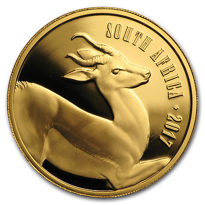 2017 South Africa 1 oz Proof Gold Natura The Springbok - SKU#155086