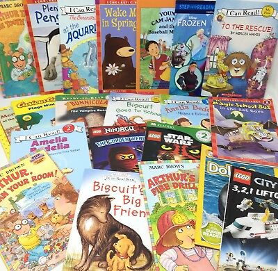 MIX LOT 10 Level 1/2 Step Into Reading I Can Read Ready Early Readers FREE SHIP