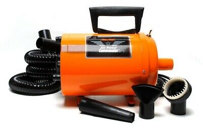 Metro Vac Air Force Commander Orange Color 2 Speed 4 Hp Dog Pet Grooming Dryer