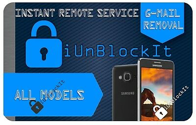 Samsung ALL MODELS Google Gmail Account Unlock Remove Remote Service *2 Minutes*