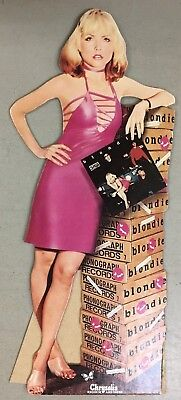BLONDIE Plasitc Letters Debbie Deborah Harry cut out stand up cardboard promo