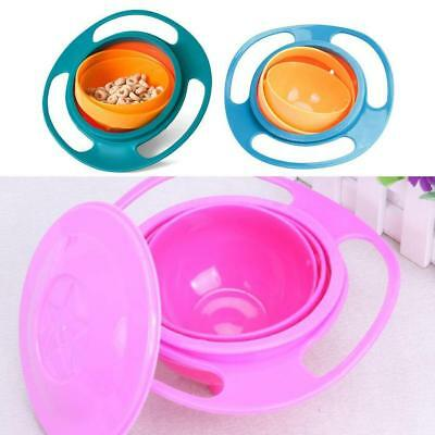 Children Baby Universal 360 Degree Rotate Spill-Proof Gyro Bowl Dishes DI