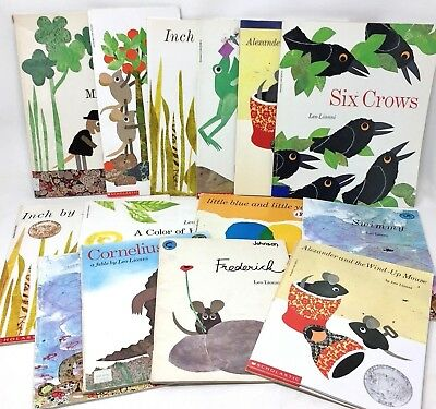 MIXED LOT 6 Leo Lionni paperback children's picture books  SHIPS FREE