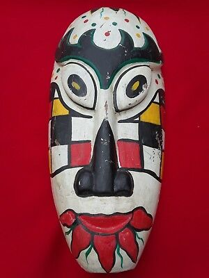 "Native American Kaigani Haida Artist Wood Carved Mask 11"" - ""PRICE REDUCED"""