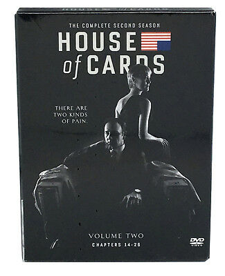 NEW House Of Cards Season 2 Complete 2nd Spacey Political Drama DVD 4-Disc Set