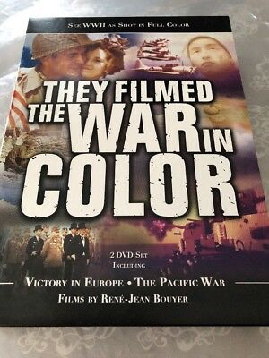 THEY FILMED THE WAR IN COLOR World War II Pacific Europe WWII Battle DVD SET