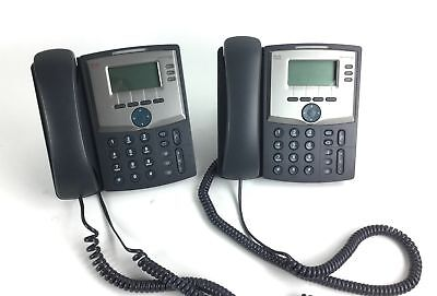 Lot of 2 - Cisco SPA303 G1 3-Line VoIP Business Phones w/Stands
