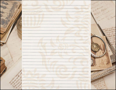 21c5836baa0d Fun Whimsical Tan Lined Stationery Writing Paper Set