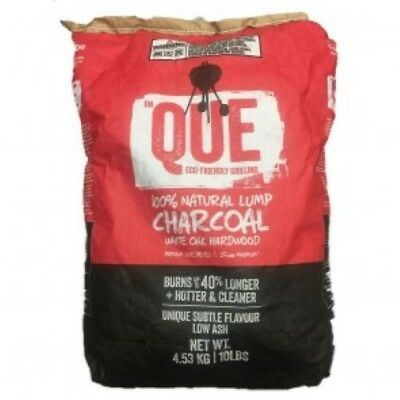 QUE Lump White Oak Charcoal 100% Natural 10 LB