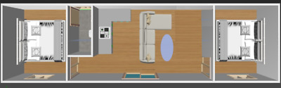 Fully Insulated Transportable Home - 2 Bedroom + Bathroom