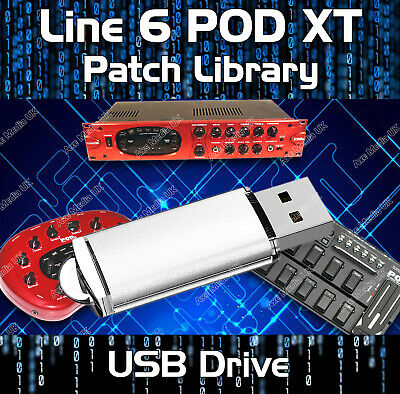 LINE 6 POD XT GUITAR EFFECTS LIVE /& PRO PRE-PROGRAMMED PATCHES CD OVER 7500!