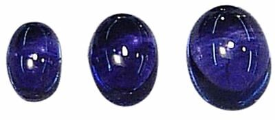 Natural Extra Fine Deep Blue Purple Iolite - Oval Cabochon - Namibia - AAA+ Grad