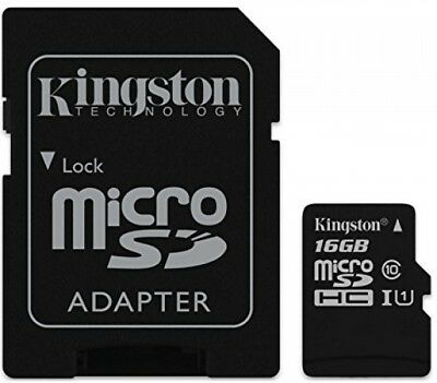 Kingston 16 GB UHS Class 1/Class10 MicroSDHCUHS-I Flash Memory Card SD Adapter
