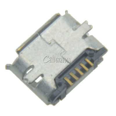 50Pcs Micro USB 5pin B Type Female Jack Socket Connector for Phone