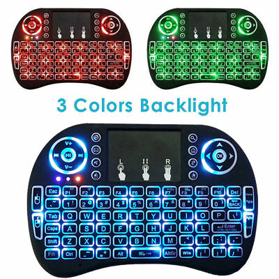 2c6c90f291d i8 Wireless Mini Keyboard Mouse Touchpad w/ Backlight For Smart TV BOX Pad  GZDL