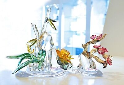 Swarovski Crystal Four Noble Plants Asian Chinese 5283057 Brand New in Box