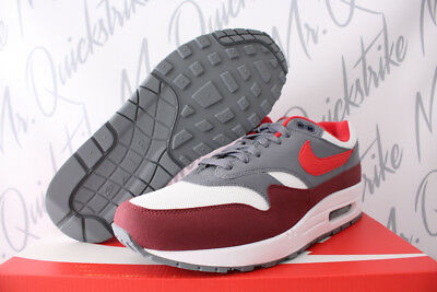 big sale 6263f 715c3 Nike Air Max 1 Sz 10 White University Red Cool Grey Bright Infrared Ah8145  100